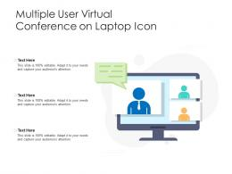 Multiple User Virtual Conference On Laptop Icon