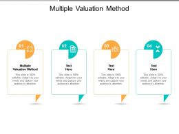 Multiple Valuation Method Ppt Powerpoint Presentation Outline Introduction Cpb