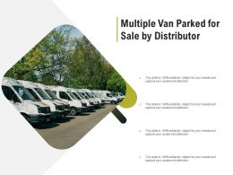 Multiple Van Parked For Sale By Distributor