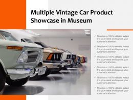 Multiple Vintage Car Product Showcase In Museum