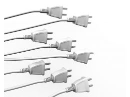Multiple White Plugs Showing Business Team Concept Stock Photo
