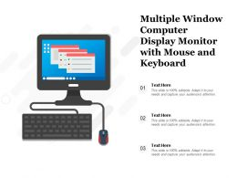 Multiple Window Computer Display Monitor With Mouse And Keyboard