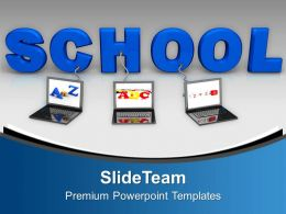 Multiple Wired To School Children PowerPoint Templates PPT Themes And Graphics 0213