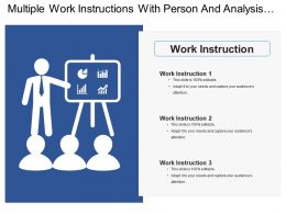 Multiple Work Instructions With Person And Analysis Chart