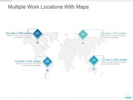 Multiple Work Locations With Maps Powerpoint Sample Design