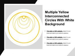 Multiple Yellow Interconnected Circles With White Background