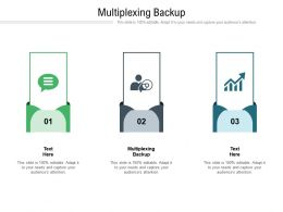 Multiplexing Backup Ppt Powerpoint Presentation Icon Graphics Template Cpb