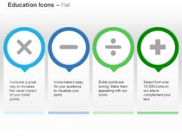 Multiplication Minus Division Plus Ppt Icons Graphics