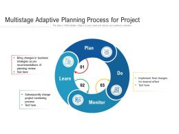 Multistage Adaptive Planning Process For Project