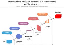 Multistage Data Extraction Flowchart With Preprocessing And Transformation