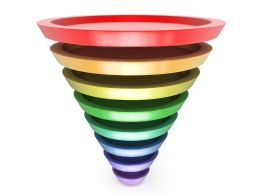 Multistage Funnel In Multicolor Stock Photo