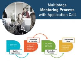 Multistage Mentoring Process With Application Call