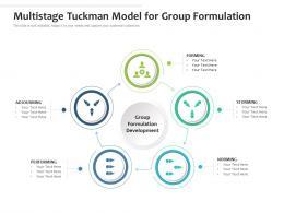 Multistage Tuckman Model For Group Formulation