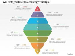 Multistaged Business Strategy Triangle Flat Powerpoint Design