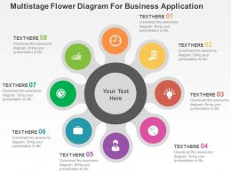Multistaged Flower Diagram For Business Application Flat Powerpoint Design