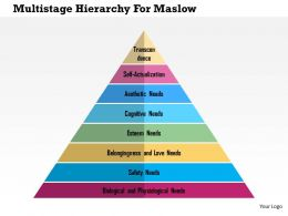 Multistaged Hierarchy For Maslow Flat Powerpoint Design