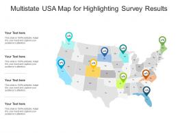 Multistate USA Map For Highlighting Survey Results