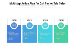 Multistep Action Plan For Call Center Tele Sales