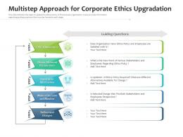 Multistep Approach For Corporate Ethics Upgradation
