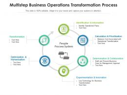 Multistep Business Operations Transformation Process