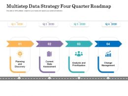 Multistep Data Strategy Four Quarter Roadmap