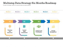 Multistep Data Strategy Six Months Roadmap