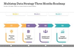 Multistep Data Strategy Three Months Roadmap