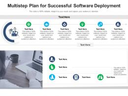 Multistep Plan For Successful Software Deployment Infographic Template