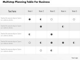 Multistep Planning Table For Business Flat Powerpoint Design