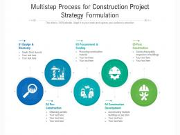 Multistep Process For Construction Project Strategy Formulation