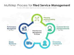 Multistep Process For Filed Service Management