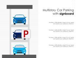 Multistory Car Parking With Signboard