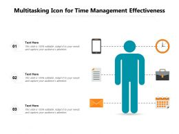 Multitasking Icon For Time Management Effectiveness
