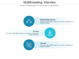 Multithreading Interview Ppt Powerpoint Presentation Professional Infographics Cpb
