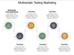 Multivariate Testing Marketing Ppt Powerpoint Presentation Gallery Guide Cpb