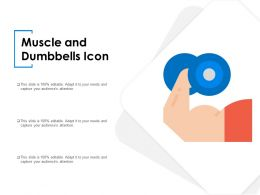 Muscle And Dumbbells Icon