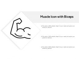 Muscle Icon With Biceps