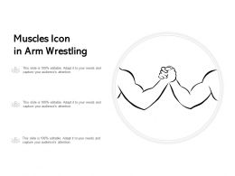Muscles Icon In Arm Wrestling