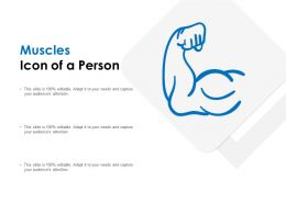 Muscles Icon Of A Person