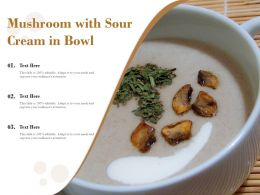 Mushroom With Sour Cream In Bowl