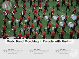 Music Band Marching In Parade With Rhythm