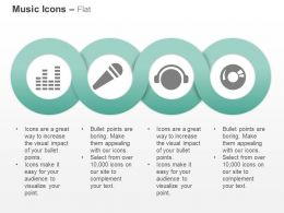 Music Bars Mike Disk Cd Ppt Icons Graphics