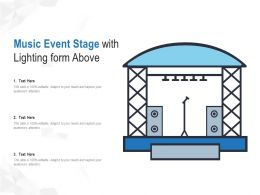 Music Event Stage With Lighting Form Above