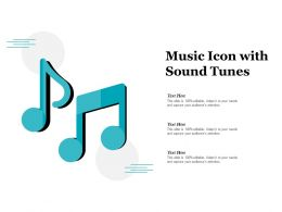 Music Icon With Sound Tunes
