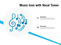 Music Icon With Vocal Tunes