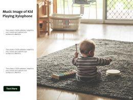 Music Image Of Kid Playing Xylophone