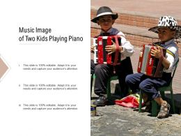 Music Image Of Two Kids Playing Piano