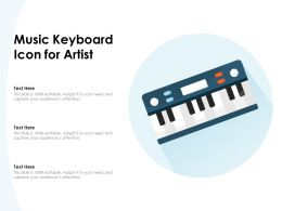 Music Keyboard Icon For Artist