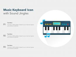 Music Keyboard Icon With Sound Jingles