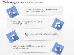 Music Nodes Headphone Entertainment Ppt Icons Graphics